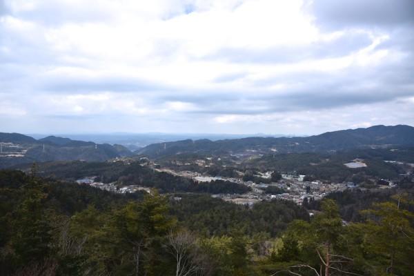 どんよりした感じの天気が残念な天狗岩からの風景