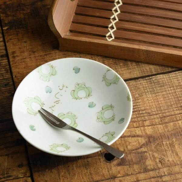 「ぶじかえる」と書いてある皿