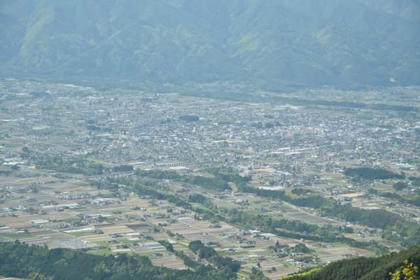 陣馬形山からの眺め