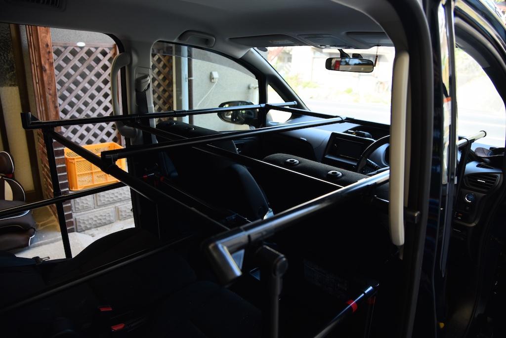 ヴォクシー 車中泊用組み立てベッドを作ってみた やまに
