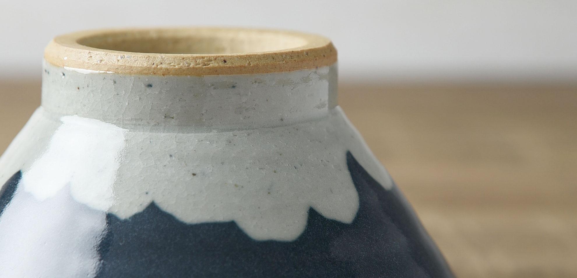 富士山の形のお茶碗