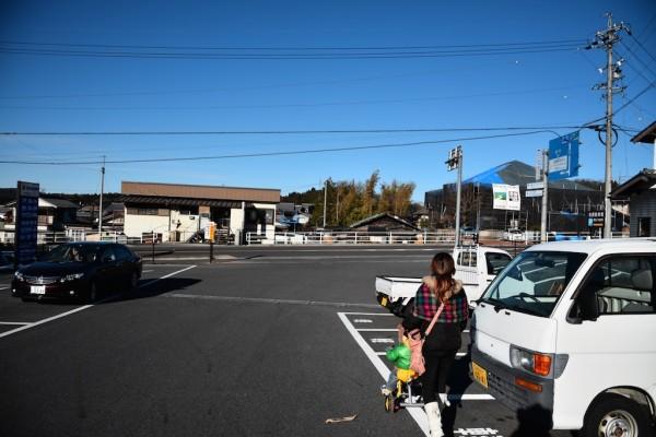 岩村町の駐車場
