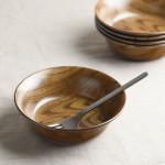 ウッドスタイル マット 15cmサラダボウル/軽量陶器