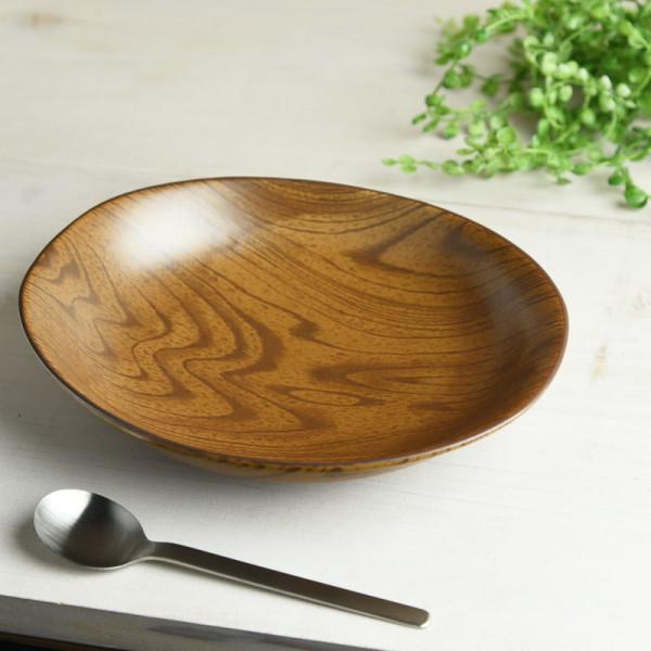 ウッドスタイル マット 23cmカレー皿(パスタ皿)