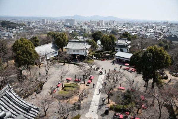 犬山城天守閣から見た犬山市街のほう
