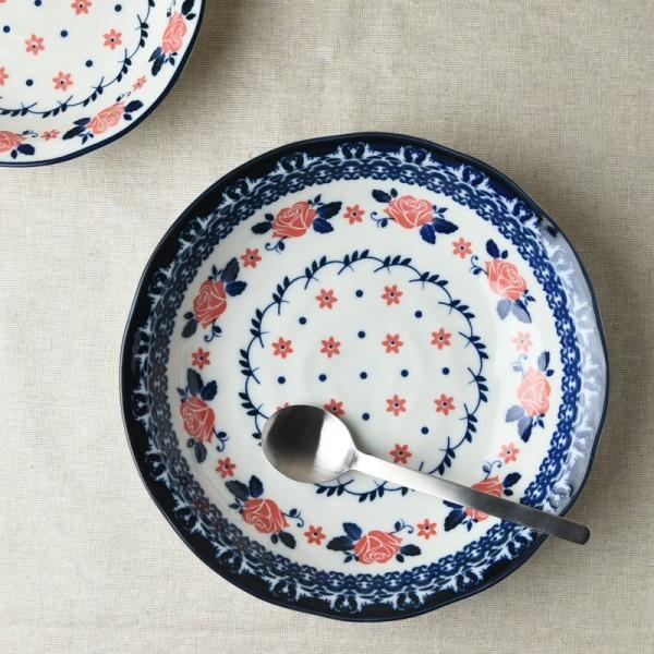 ローズドット 21.8cmパスタ皿(カレー皿)
