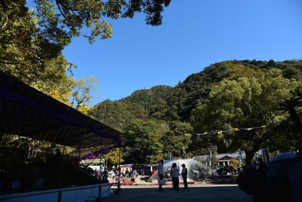 歩いて登ることもできる岐阜城