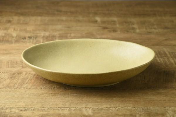 楕円が使いやすい23.8cmカレー皿 黄瀬戸
