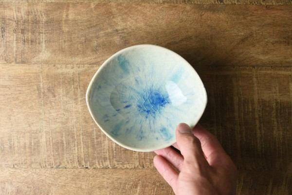 13.2cm涼青ひわみ小鉢