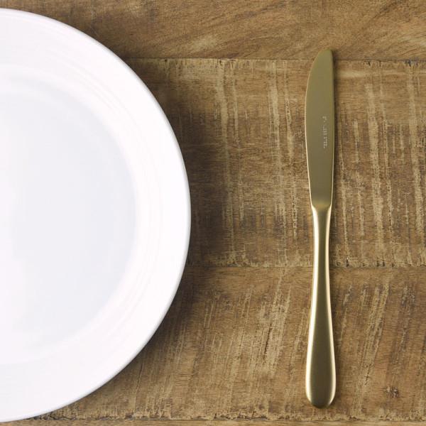 レトロ マットゴールド デザートナイフ