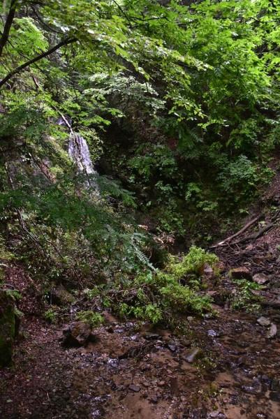 南山の滝(左奥)