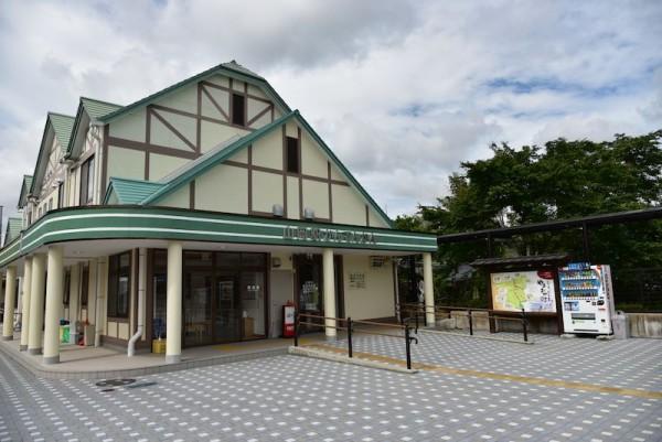 「山岡駅かんてんかん」とある