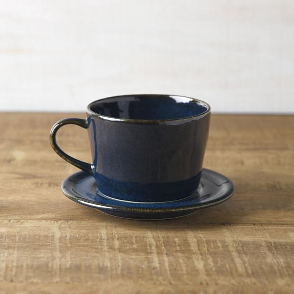 北欧ブルー 深ブルー コーヒーカップ&ソーサー
