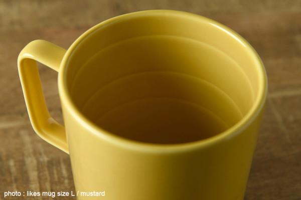 マグカップには容量の目安となる線が各サイズともついています。