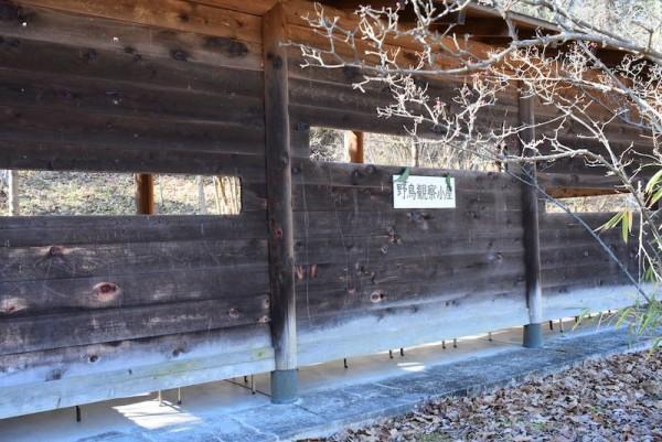 こちらは野鳥観察小屋