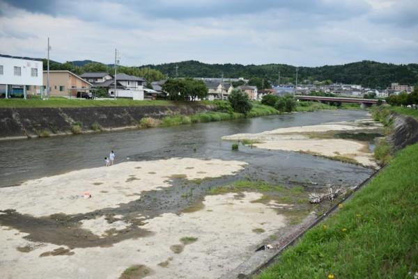 土岐川下流側