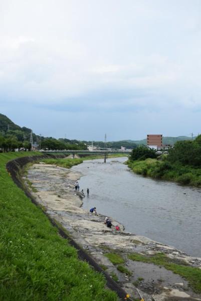 土岐川上流側