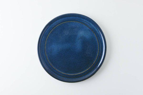 北欧ブルー 深ブルー 19cm中皿(ケーキ皿)