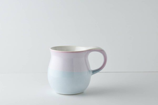 ふんわりペールトーンなマグカップ 上ピンク下ブルー