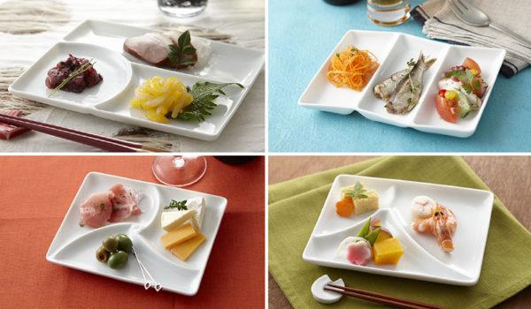 ⑧和(nagomi)三つ仕切り皿 -和のモチーフによる取皿となる仕切り皿-