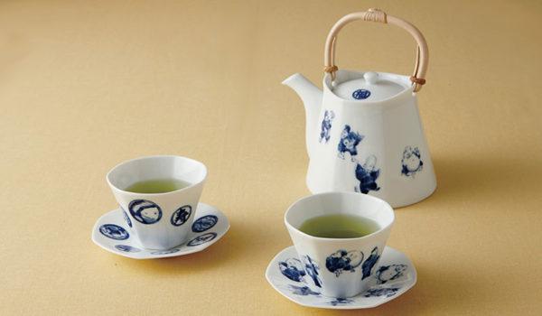 ⑩七福茶器 -七福神が描かれた七角形のお茶のうつわ-